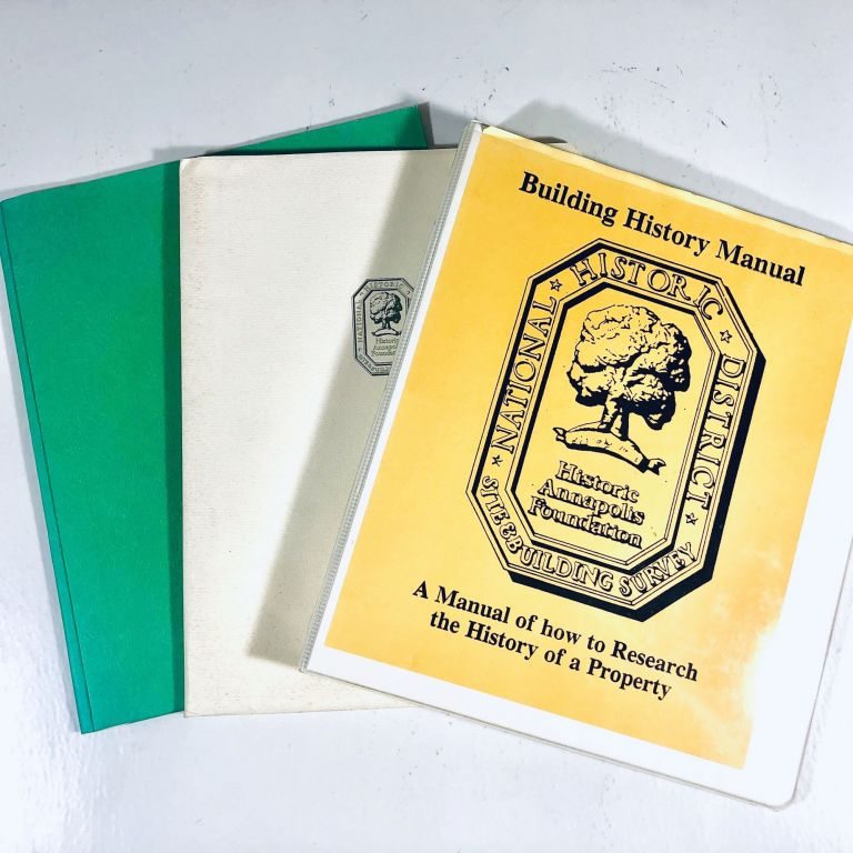 Small archive of 1980s-Era Folders/Binders on Annapolis, Maryland Architectural History from the Historic Annapolis Foundation