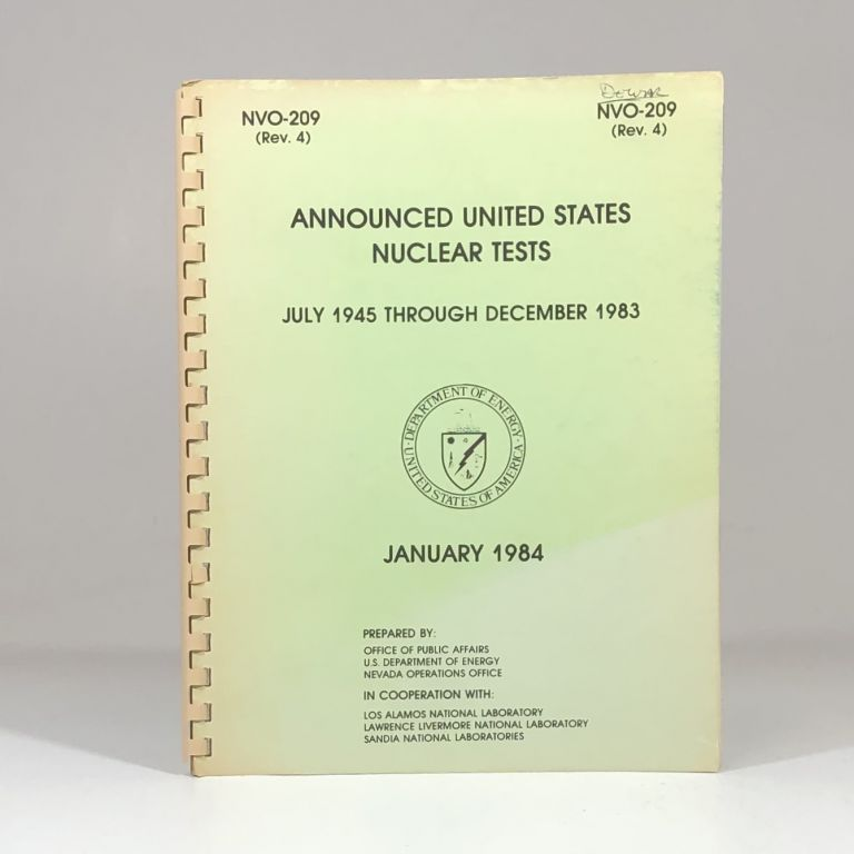 Announced United States Nuclear Tests