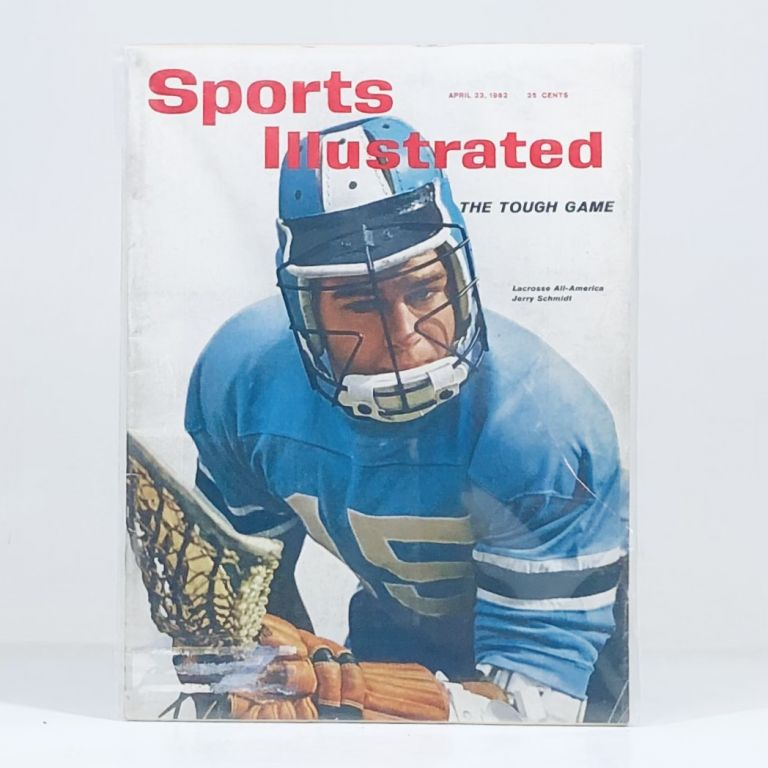"""""""MASSACRE ON A BLOODY PLAIN"""" 1962 Sports Illustrated w JOHNS HOPKINS LACROSSE. Featuring Johns Hopkins vs Princeton Vintage Lacrosse, along, a history of the game."""