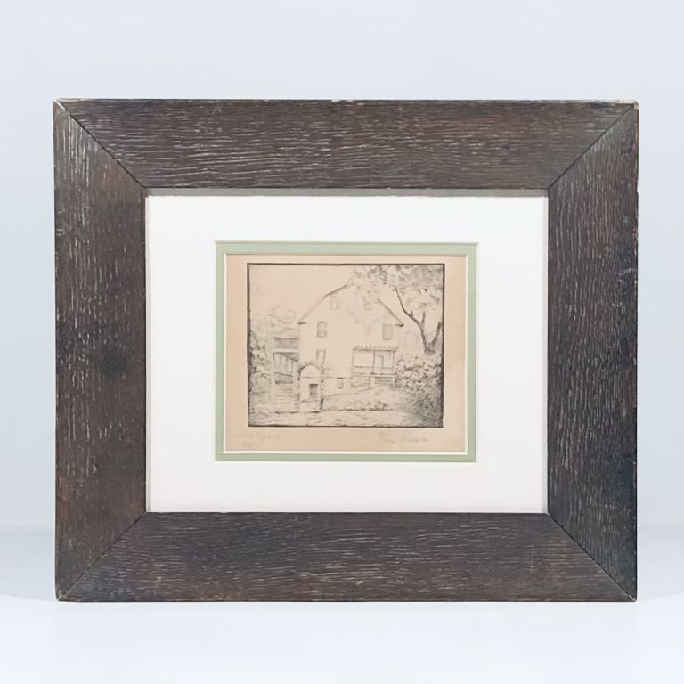 """""""Old House"""" SIGNED 1937 Etching WORKS PROGRESS ADMIN (WPA) Artist Remick Neeson"""