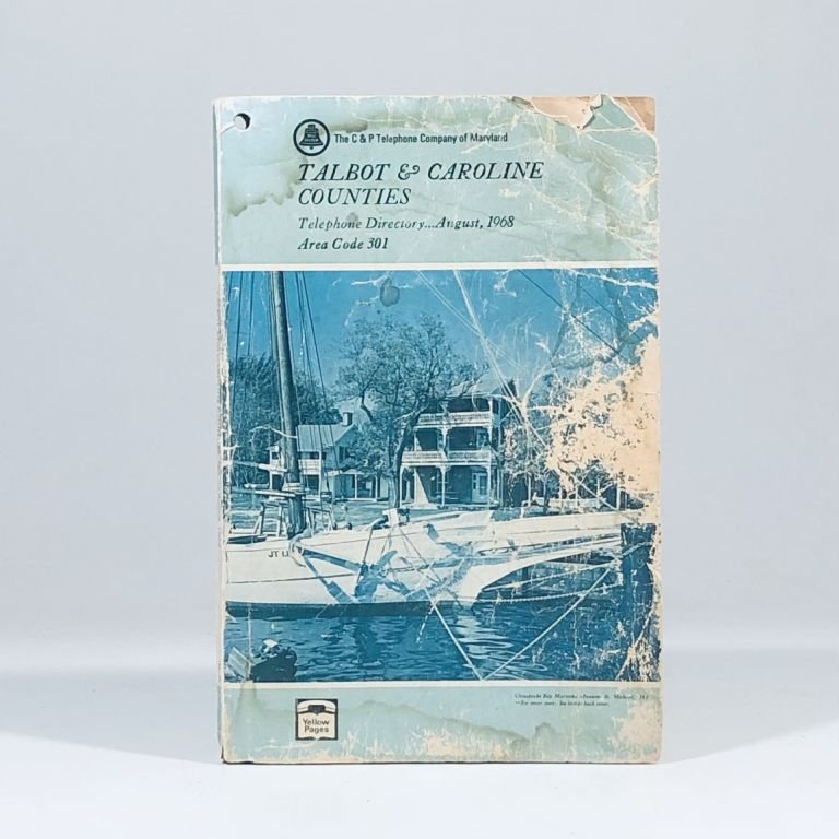 1968 C & P Telephone Directory for Talbot and Caroline Counties, Maryland