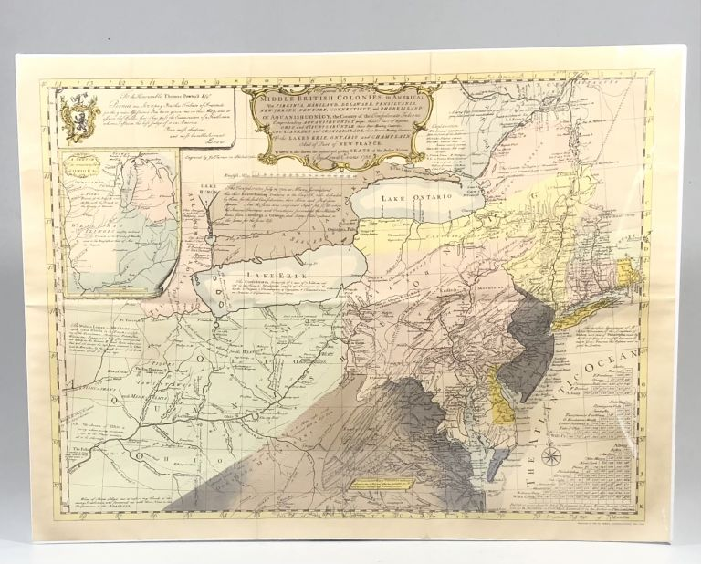 Lewis Evans and His Historic Map of 1755. First Known Document to Show Oil at the Industry's Birthplace. Lewis Evans.