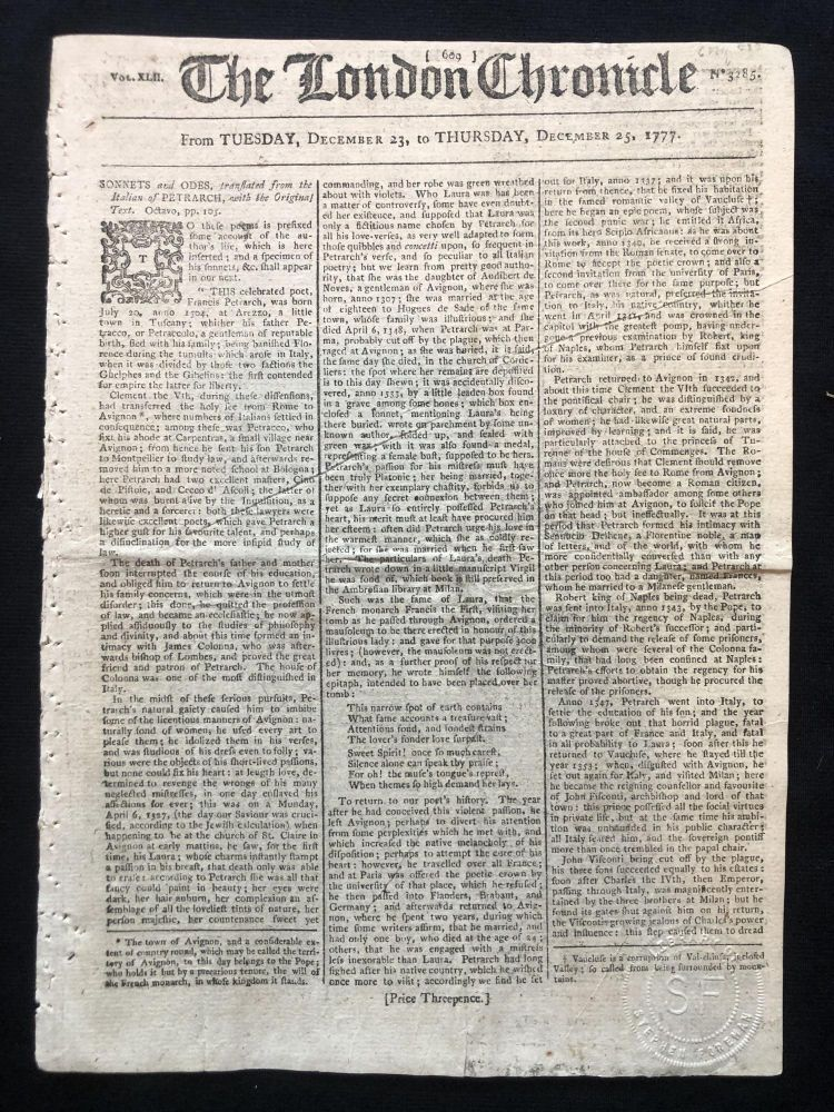 1777 REVOLUTIONARY WAR newspaper GEORGE WASHINGTON LETTER Battle of Germantown. Washington's report to Continental Congress after the Battle of Germantown.