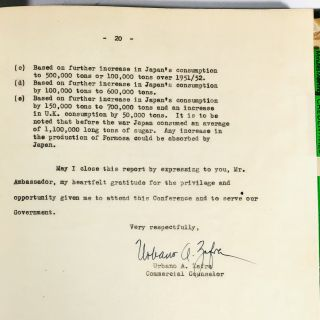 Report on Meeting of the International Sugar Council, London, October 17-20, 1949