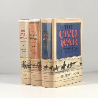 THE CIVIL WAR : A NARRATIVE (3 volumes). Shelby Foote