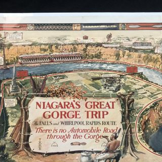 Niagara's Great Gorge Trip - 1931 Pictorial Map