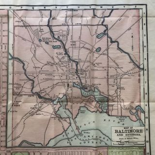 1902 Color Street Map of Baltimore Maryland