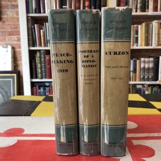 Studies in Modern Diplomacy (3 vols, Portrait of a Diplomatist, Curzon, Peacemaking 1919). Harold...