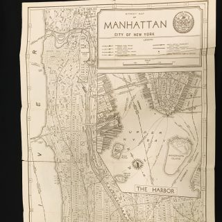 American Guide Series. New York City Guide. A Comprehensive Guide to the Five Boroughs of the Metropolis - Manhattan, Brooklyn, the Bronx, Queens, and Richmond - Prepared by the Federal Writers' Project of the Works Progress Administration in New York.