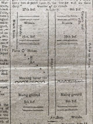 British Warships Bombard Fort McHenry during the Battle of Baltimore, with Map