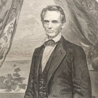 Scarce 1860 Portrait of a Beardless Abraham Lincoln, just Elected President of The U.S. as the Civil War looms